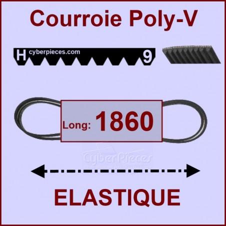 Courroie 1860 H9 -EL- élastique