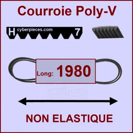 Courroie 1980 H7 non élastique