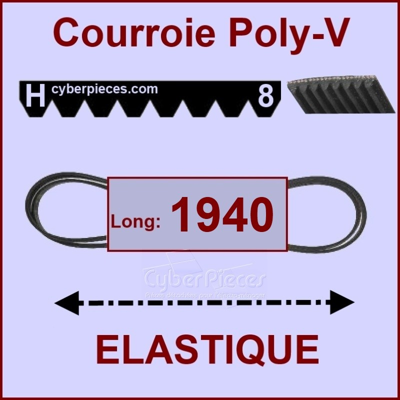 Courroie 1940 H8 - EL-  élastique