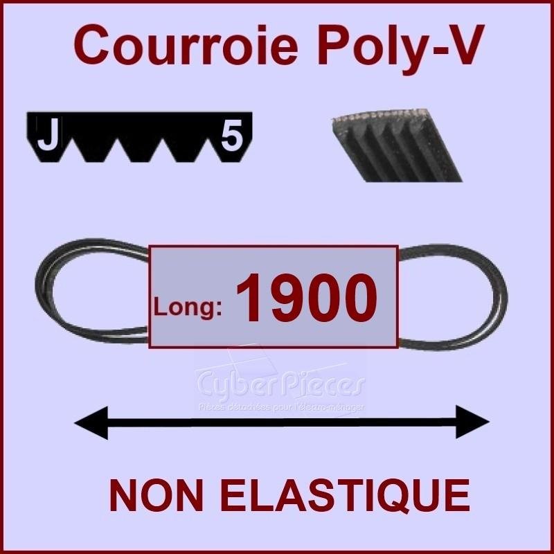 Courroie 1900 J5 non élastique