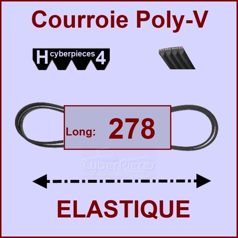 Courroie 278 H4 - EL- élastique  -  57X0381