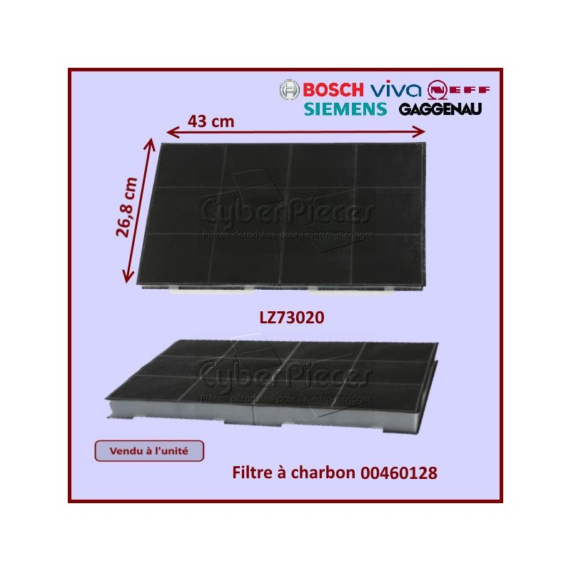 Filtre charbon LZ73020 Bosch 00460128