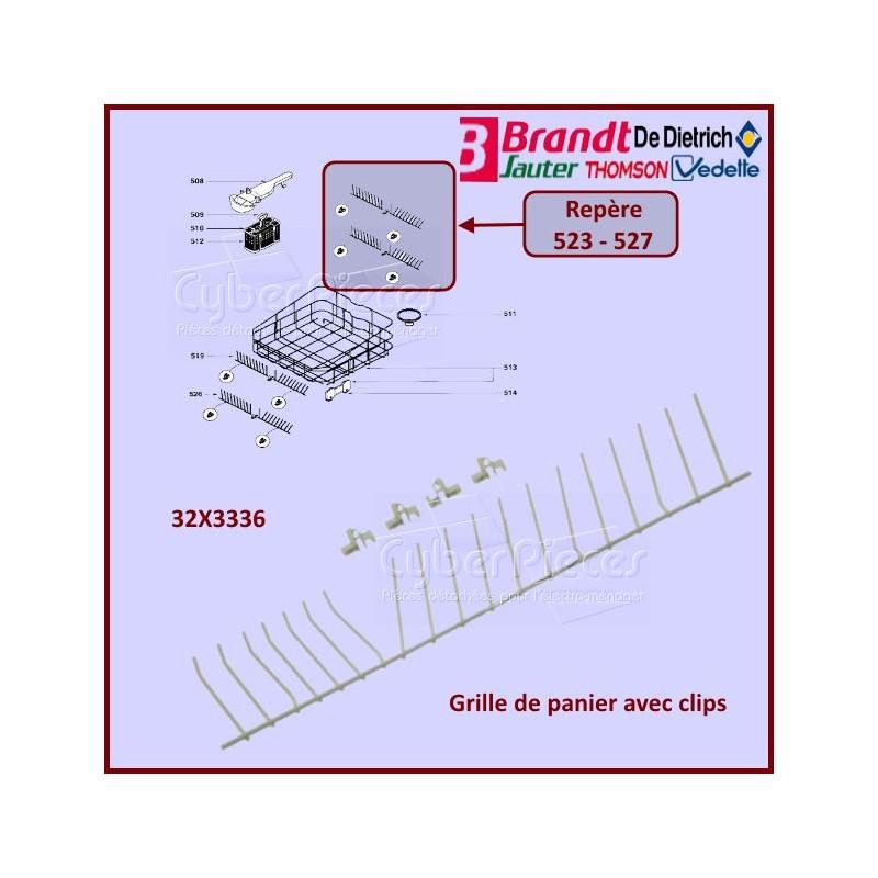 Clayette à abattant de panier lave-vaisselle Brandt 32X3336