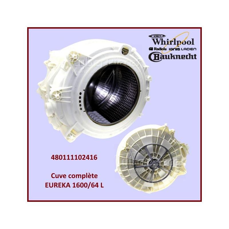 Cuve complète EUREKA 1600/64 L  Whirlpool 480111102416