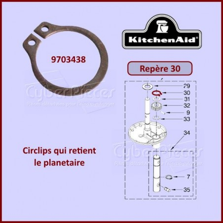 Circlips Kitchenaid 9703438