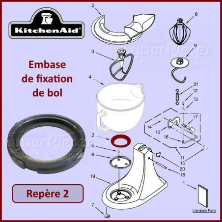 Embase en caoutchouc pour bol Kitchenaid W10220977