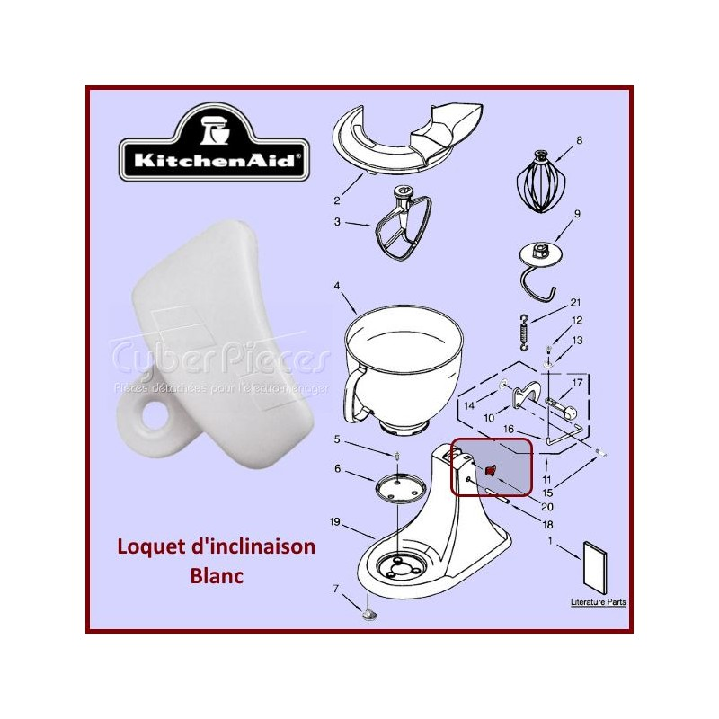 Loquet blanc Kitchenaid 3184262
