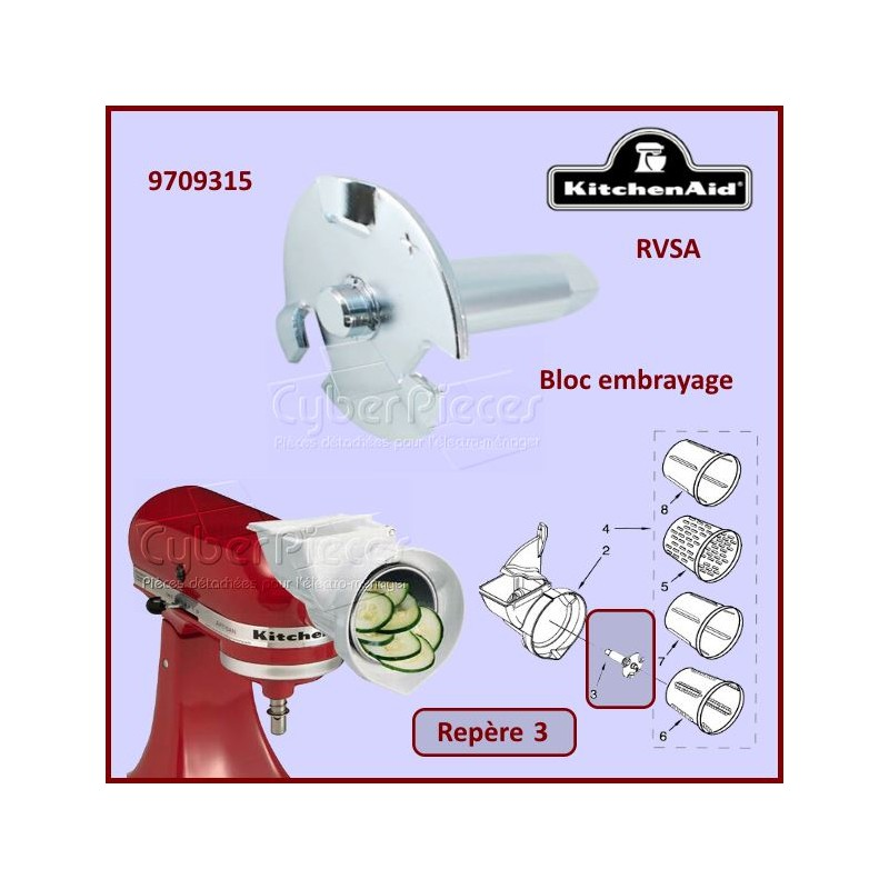 Bloc embrayage RVSA Kitchenaid 9709315