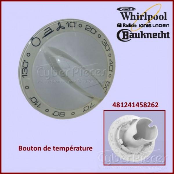 Bouton de température Whirlpool 481241458262