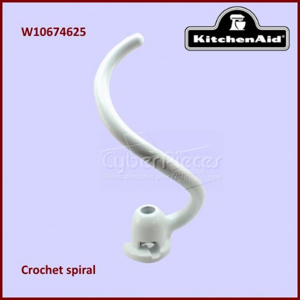 Crochet spiral blanc Kitchenaid W10674625