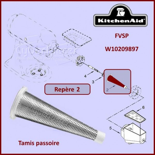 Tamis passoire FVSP Kitchenaid W10209897