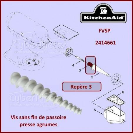 Vis sans fin FVSP Kitchenaid 2414661