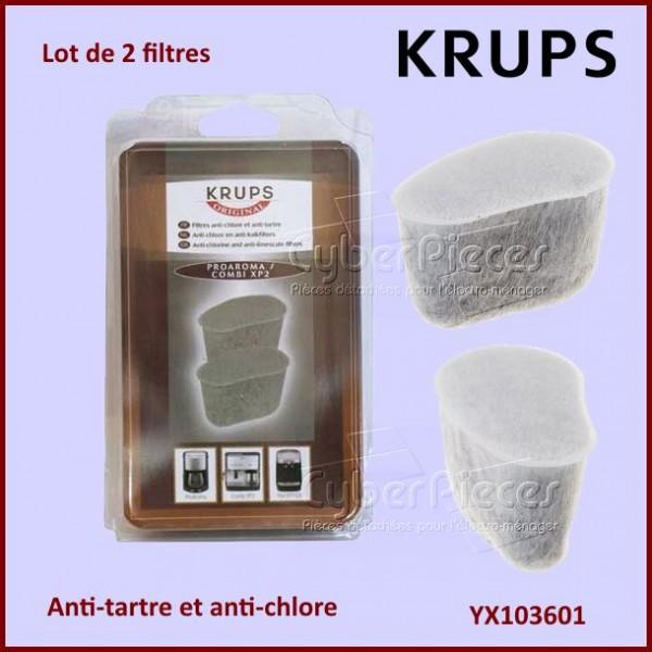 Lot de 2 filtres anti chlore et tartre krups yx103601 pour - Filtre anti tartre ...