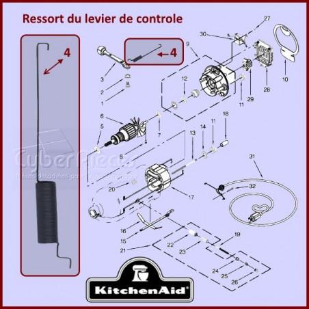Ressort du levier de contrôle de vitesse Kitchenaid  3183680