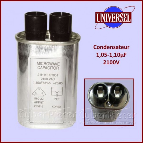 Condensateur 1.05µF-1.10µF 2100V