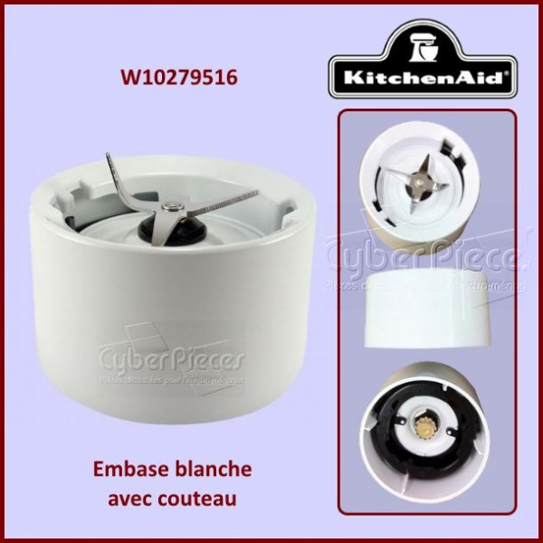 Embase Blanche avec Couteau Kitchenaid W10279516