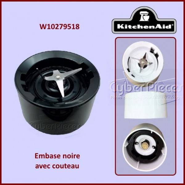 Embase noire Kitchenaid W10279518
