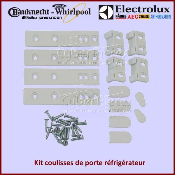 Kit complet coulisses de porte réfrigérateur