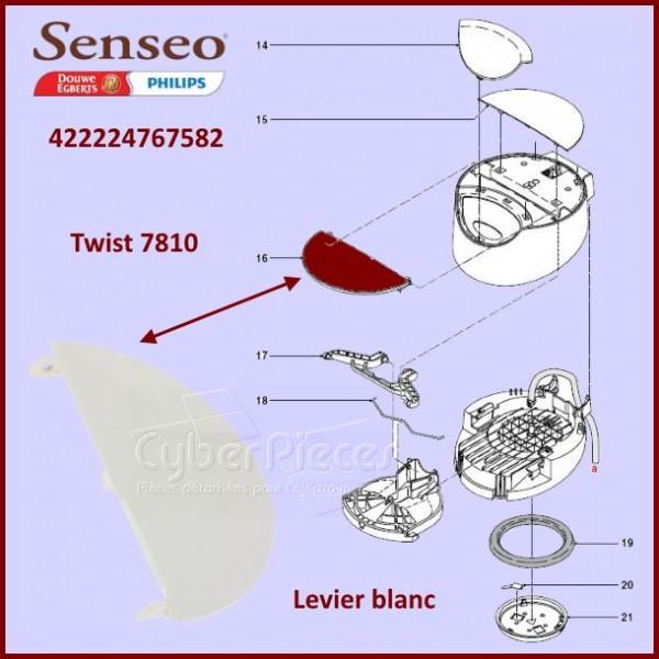 Levier plastique blanc Senseo 422224767582