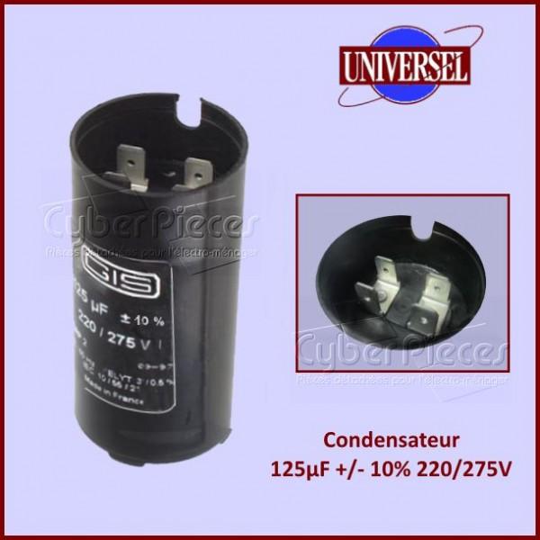 Condensateur 125µF +/- 10% 220/275V
