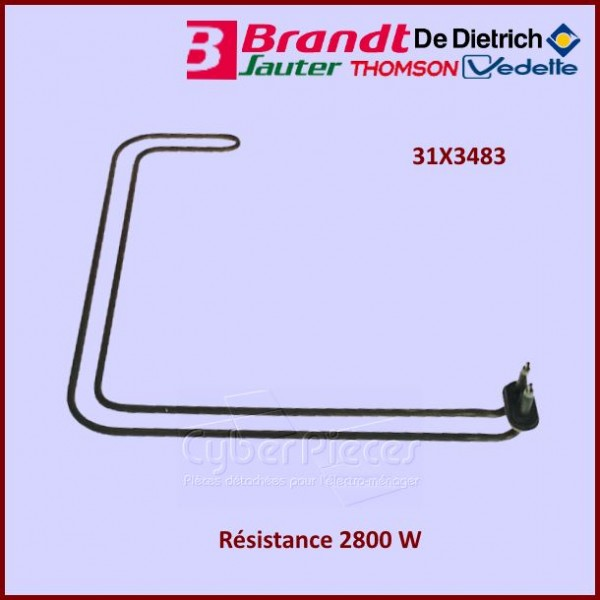 Résistance 2800w Brandt  31x3483
