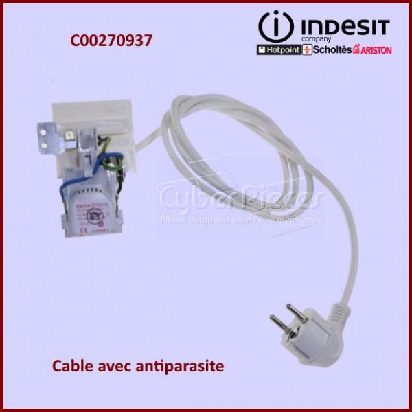 cable d 39 alimentation antiparasite c00270937 pour machine. Black Bedroom Furniture Sets. Home Design Ideas