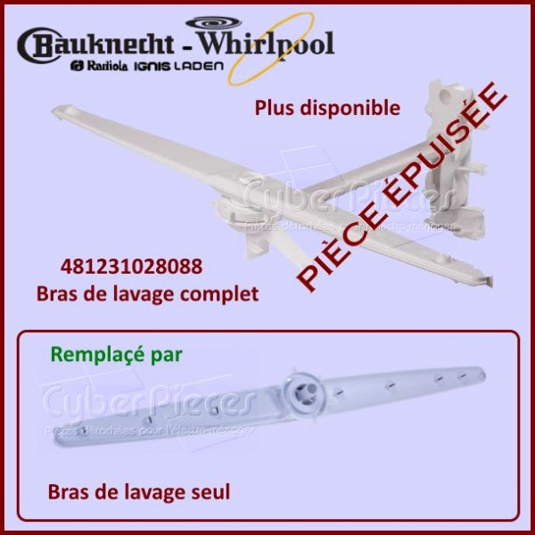 Kit complet bras supérieur Whirlpool 481231028088