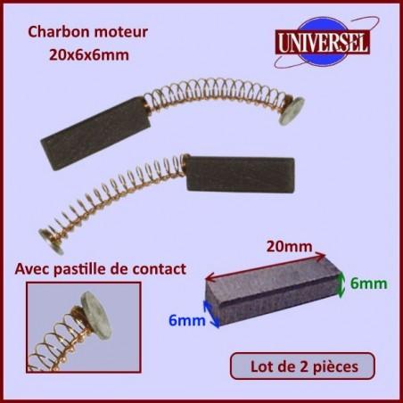 Charbon moteur 20x6x6mm