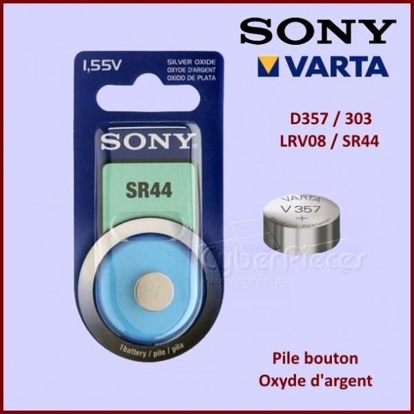 Pile bouton 1,5V OXYDE D'ARGENT 357 - SR44NB1A