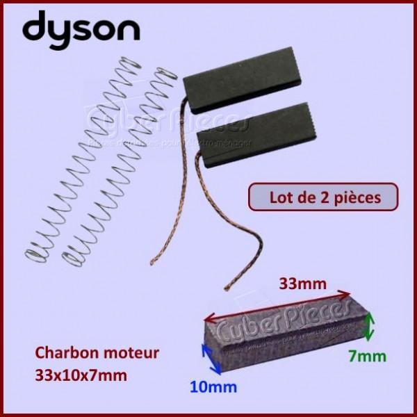 charbons moteur dyson 33x10x7mm lot de 2 pour composant. Black Bedroom Furniture Sets. Home Design Ideas
