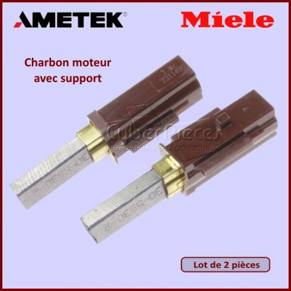 Charbon avec support 32x9,5x6,3mm Miele 2830480 / AA3-12