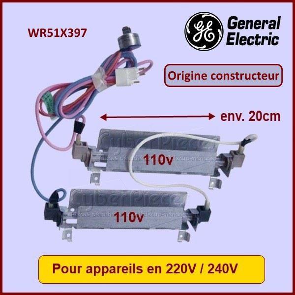 Résistance de dégivrage Origine constructeur GE  WR51X397