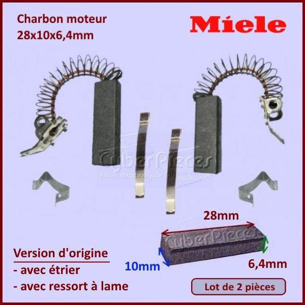Charbon moteur 28x10x6,4mm *Origine* Miele 3320630