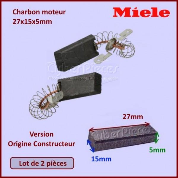 Charbon moteur 27x15x5mm *Origine* Miele 1689370