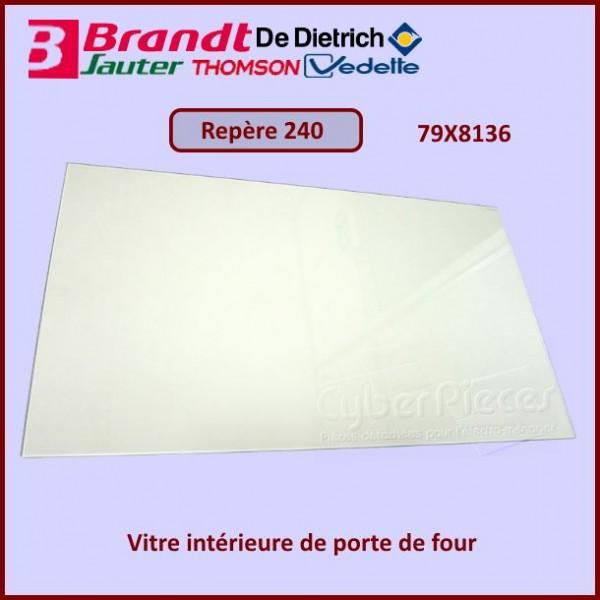 Vitre intérieure de four Brandt 79X8136