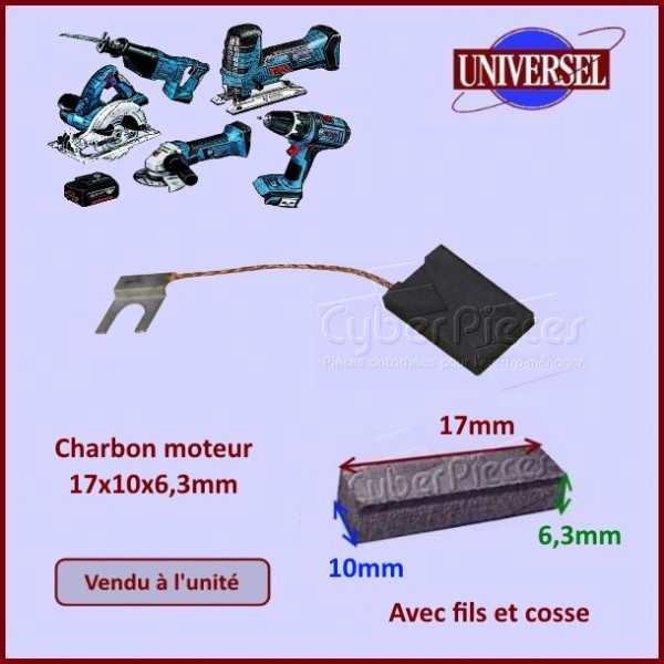 Charbon moteur 17x10x6,3mm