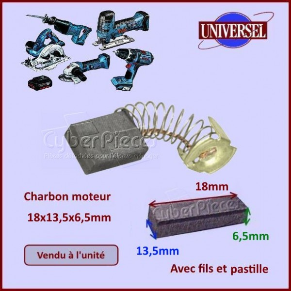 Charbon moteur 18x13,5x6,5mm Makita CB153