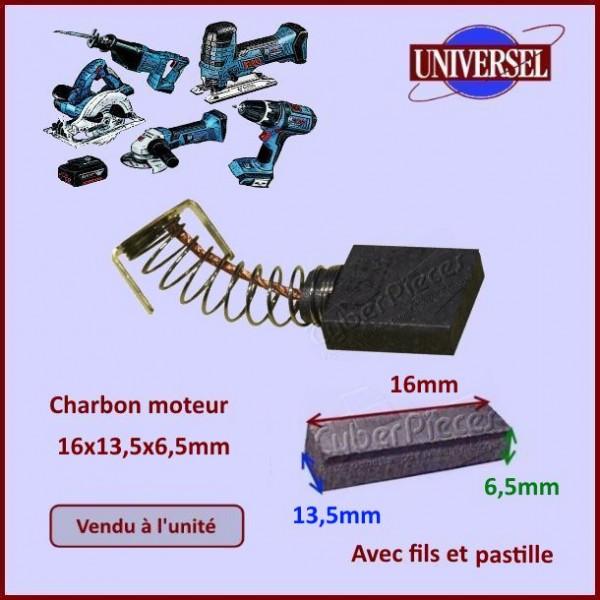 Charbon moteur 16x13,5x6,5mm Makita CB155