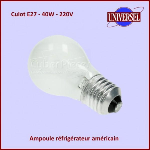 ampoule e27 40w 250v 481213418056 pour refrigerateurs americains side by side froid pieces. Black Bedroom Furniture Sets. Home Design Ideas