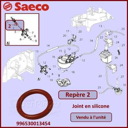 Joint silicone SAECO 140320762 / 996530013454
