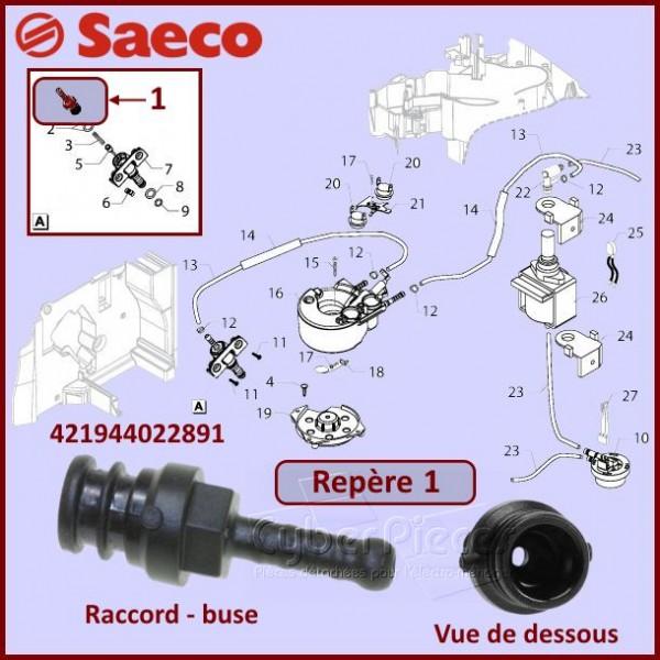 Raccord Silicone SAECO 421944022891