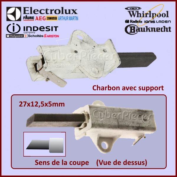 Charbon moteur avec support  27x12,5x5mm