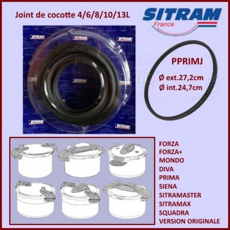 Joint de cocotte minute SITRAM PRIMA -SQUADRA 4/6/8/10/13L Ø 24cm