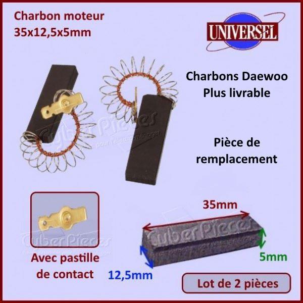 Charbon moteur Daewoo 3616030400***Pièce épuisée***