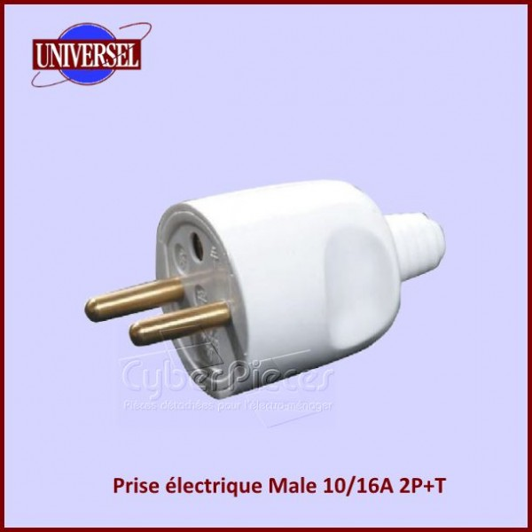Prise lectrique male 10 16a 2p t pour composant electriques composant produits fini pieces - Prise electrique male ...
