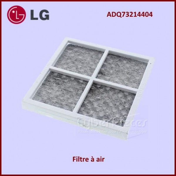 filtre air anti bact rien lg adq73214404 pour refrigerateurs americains side by side froid. Black Bedroom Furniture Sets. Home Design Ideas