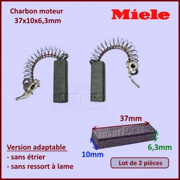 Charbon moteur 37x10x6,3mm *Adaptable* Miele 3026790