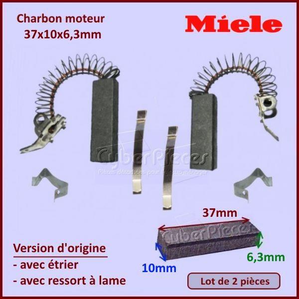 Charbon moteur 37x10x6,3mm *Origine* Miele 3026790