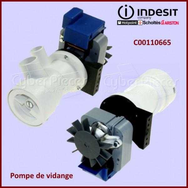 Pompe de vidange indesit c00110665 pour pompe de vidange machine a laver lavage pieces detachees - Pompe a eau machine a laver ...