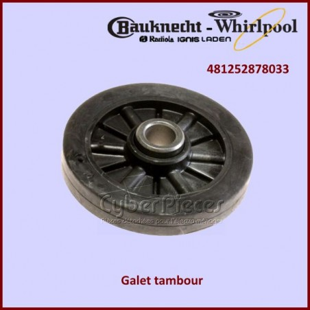 Galet tambour WHIRLPOOL 481252878033
